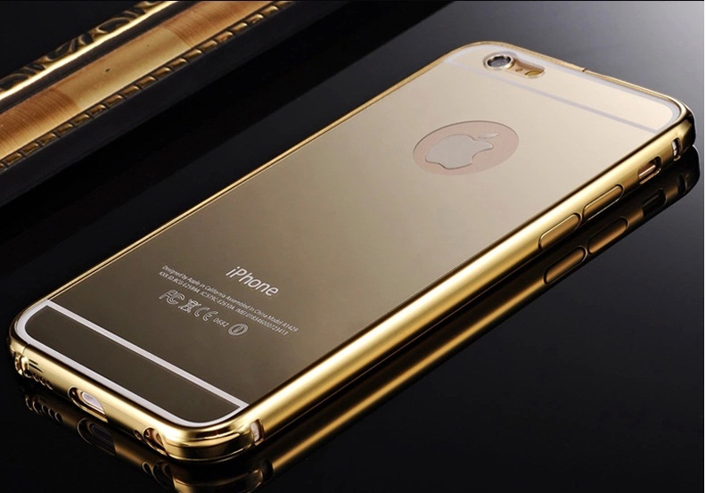 Ốp viền kèm ốp lưng gương cho Iphone 6 6S
