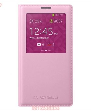 Bao da S View Cover Galaxy Note 3 Hồng