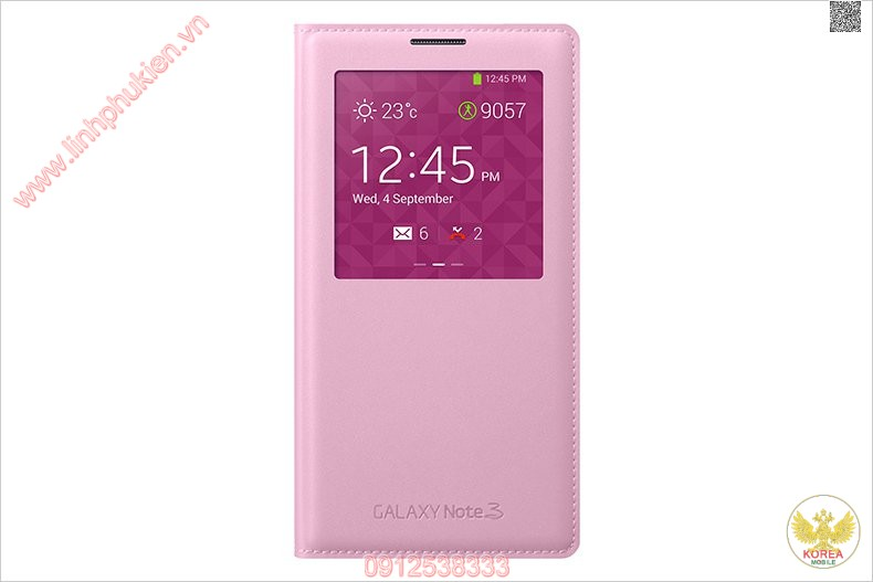 Bao da S View Cover Galaxy Note 3 Hồng