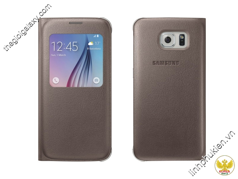 Bao da Samsung Galaxy S6 S View Cover da thật chính hãng