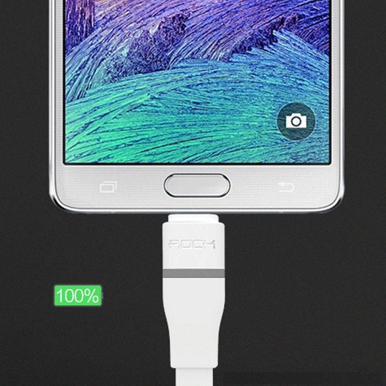 Cáp sạc tự ngắt Micro Usb hiệu Rock cho điện thoại Android