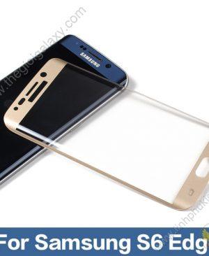 Dán kính cường lực chống vỡ Samsung Galaxy S6 Edge Color hiệu I-Smile