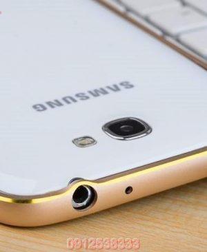 Ốp viền Samsung Galaxy Core Prime G360 kim loại bo tròn chỉ vàng