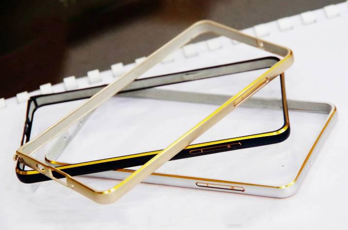 Ốp viền Samsung Galaxy J5 Bo tròn chỉ vàng kim loại