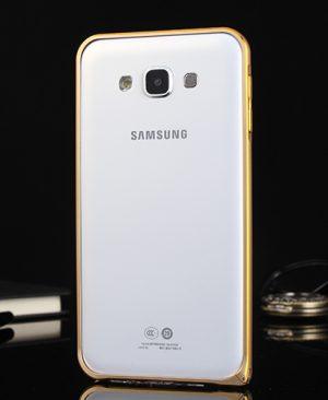 Ốp viền Samsung Galaxy J7 Bo tròn chỉ vàng